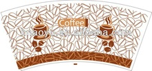 printed and cutted paper cup fan body sleeve paper cup wall,paper cup sheet factory , manufacturer, wholesale