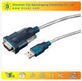 níquel chapeado suporte de driver usb para rs232 db9 adaptador serial conversor de cabo