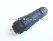 Waterproof Circular Connector 15A Solder type Panel Mount 2 Pin