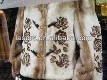 Galvo laser engraving fur coat M/C