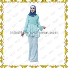 MF21009 2013 Modern Beading Baju Kurung Peplum Malaysia