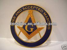 master mason cut out car emblem, masonic car auto badge emblem,mason car adhesive emblem