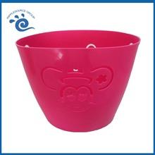 Plastic Cute Oval Orange Big Plastic Waste Baskets