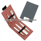 best selling new arrival 6pc manicure & pedicure set with nail care set in Leather case