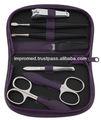 saco do zipper preto pessoais conjunto para manicureepedicure