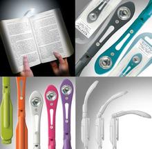 Hot Mini 1 LED flexible reading light with clip led bookmark light