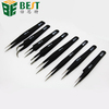 curved straight and slanted anti static tweezers for mobile phone/laptop/computer repair tools