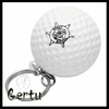 pu foam golf keychain , golf stress ball