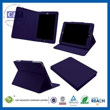 C&T Purple PU Stand book leather case for ipad mini 2