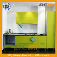 apple green diy baked enamel kitchen cabinet