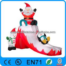 Christmas toy snowman penguin inflatable Santa slide