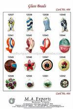 Ceramic flower, fish & pendant bead