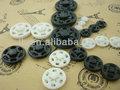 blanco negro coser plástico broches sujetadores complemento botón de venta al por mayor