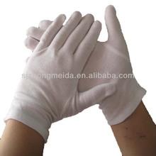 100% cotton gloves with Snap , stripes , Palm dot , velcro gloves