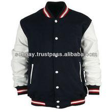 Varsity Jacket, Wool Body Leather Sleeves Customized Logo