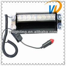 2013 New 8-LED Emergency Vehicle Warning Strobe Flash Light Amber White mixe -Wllighting