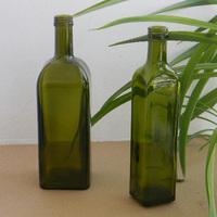 Wholesale hot sale antique green glass olive oil bottles