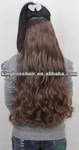 resist heat high quality machine wefted synthetic hair weave curly hair