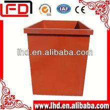 medical trash bin by truck