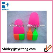 china hot sale 2 in 1 combo bullet shape promotion plastic penmarker pen nite writer pen highlighter