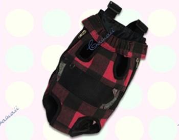Tartan Red Pet Carry Bags