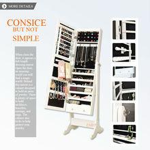 Italian Style contemporary syrian furniture stylish Espresso jewelry cabinet mirrored design