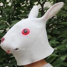 Rabbit Animal Silicone Mask Christmas Costume