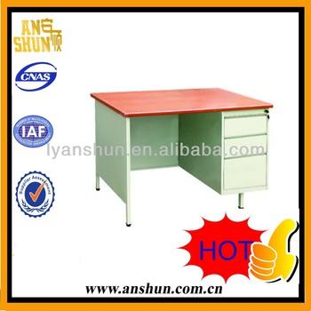 wooden top and metal cabinet teacher desk