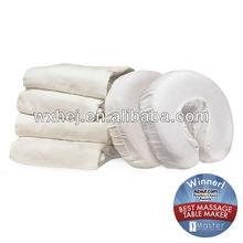 White cotton massage washable headrest cover