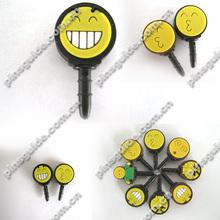 Promotion Eco-friendly Happy Soft PVC 3.5mm Plug With Dust Cap