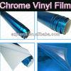 Blue Chrome Vinyl Film,Chrome Mirror Masking Car Wrap,Air Bubble Free Quality 1.52*30m Size