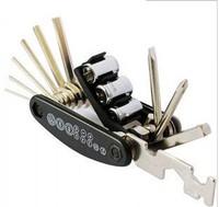 Cycling BIKE 16 in 1 Multi-function bicycle tools repair kits Black