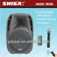 12 inch usb sd bluetooth portable wireless digital audio mixer AK12-306