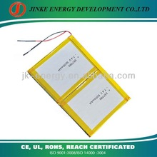 CE,ROHS Approved 2S 7.4v tablet pc battery pack with pcb and wires