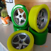 rubber coated wheel