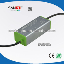 Shenzhen SANPU CE ROHS waterproof IP67 PFC0.95 led transformer driver power supply cctv 1750ma led driver