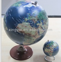 10cm durable blue mini desk globe,made of HIPS and metal stand