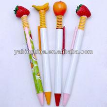 Best Selling Plastic Fruit Shaped Ball Pen