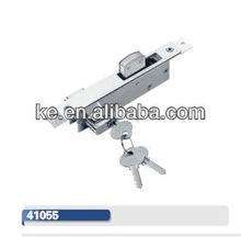 doule side sliding door lock, with brass or zhinc cylinder, 3keys