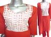 Ladies Embroidered Lenin Dress ( Shalwar Kameez / A Line Dress)