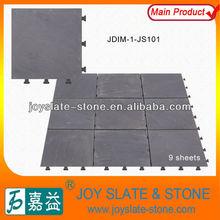 DIY removable black slate types of interlocking stone