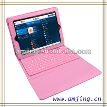 amazing silicon bluetooth keyboard leather case for ipad