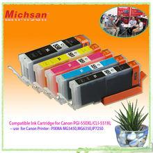Europe hot Ink Cartridges PGI-550XL CLI-551XL for Canon Pixma IP7250/MG5450/MG6350/MX925