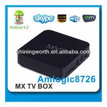 android 4.2 dual core aml8726 mx smart tv box