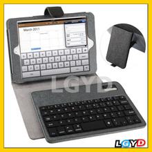 Newest Cross Texture Bracket Leather Case with Wireless Bluetooth V3.0 ABS Hard Key Keyboard for ipad mini / mini 2 Retina