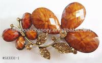 fashion metal rhinestones butterfly/flower hair accessories hair clip alligator clip