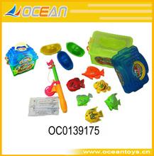 nueva venta caliente magnético juego de la pesca magnético juguetes juego de la pesca de peces de plástico de juguete oc0139175