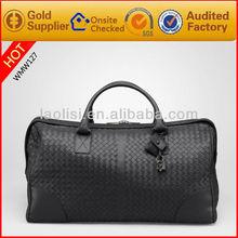 Guangzhou wholesale fashion duffel bag for men leather travelling bag
