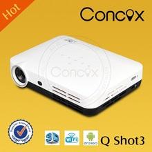 Concox Cheap mini led pico projector 1280*800 600 lumens with HDMI/VGA/AV/USB/SD,for business,home,KTV,educatoin Q shot3