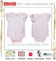 Nova oeko menino menina manga curta soft impressão allover algodão orgânico roupa do bebê recém-nascido